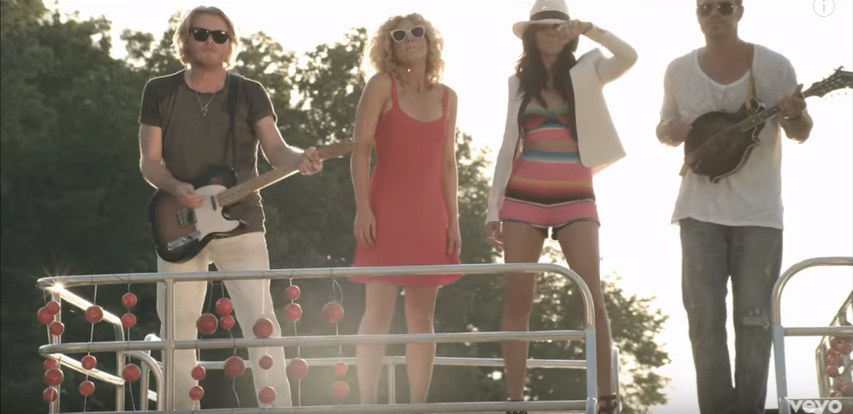 Solid Craft Pontoon featured in Little Big Town Video